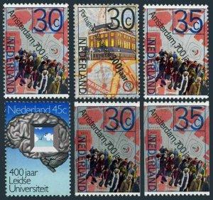 Netherlands 522-525,526-527 coil,MNH.Michel 1043-1046,1043C,1045C. Amsterdam-700