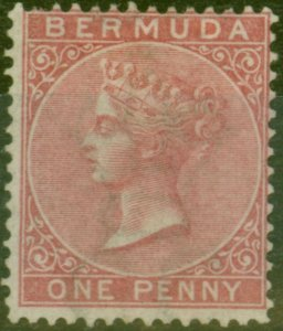 Bermuda 1865 1d Rose-Red SG1 Fine Mtd Mint