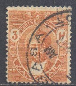 Zanzibar Scott 158 - SG278, 1921 Sultan 3c used