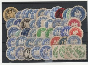Germany Assortment of Official Government Seals, Lot of 48