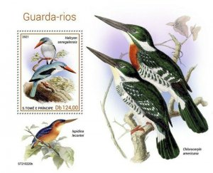 St Thomas - 2021 Woodland Kingfishers - Stamp Souvenir Sheet - ST210220b