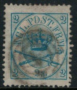 Denmark #11 CV $35.00 Early postage stamp