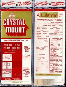 CRYSTAL MOUNT H.E. HARRIS SMALL SIZE 36 10 TUBES SEALED PACKAGE
