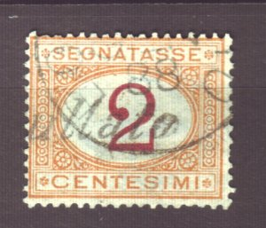J22611 Jlstamps 1870-25 italy used #j4 postage due