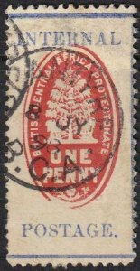 British Central Africa 1898 SC 59d Used SCV$ 115.00