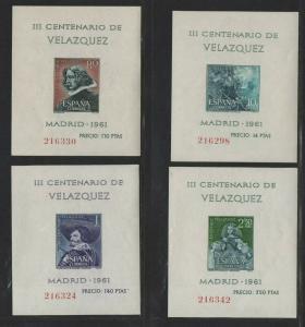 $Spain Sc#983a-986a M/NH/VF, complete set, S/S, Cv. $33.50