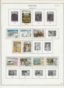 honduras issues of 1978 stamps sheet ref 17793
