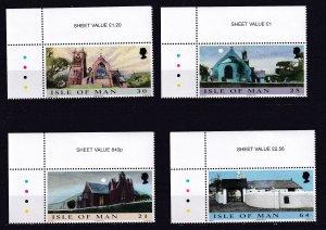 ISLE OF MAN 1999, Churches MNH  SET # 838-841