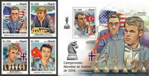 Z08 IMPERF ANG190103ab ANGOLA 2019 World Chess Championship MNH