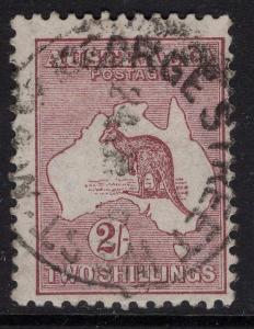 AUSTRALIA SG41b 1916 2/- RED-BROWN(ANILINE) USED