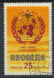 Rhodesia   SG 483   SC# 321   Used IMO / WHO 1973 see details