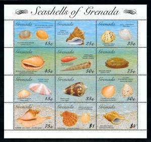 [99707] Grenada 1993 Marine Life Sea shells  MNH