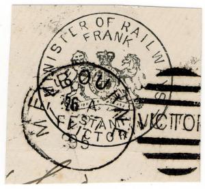 (I.B) Australia Postal : Victoria Frank Stamp (Minister of Railways)