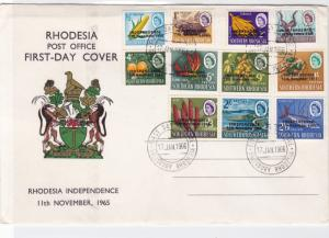 rhodesia 1966 independence multi  stamps cover ref r14488