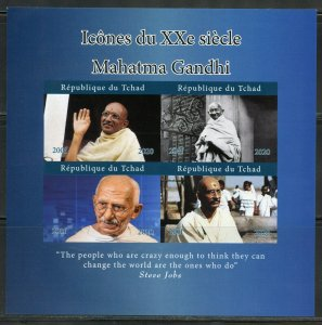 ICONS OF THE 20th CENTURY MAHATMA GANDHI IMPERF SHEET MINT NEVER HINGED