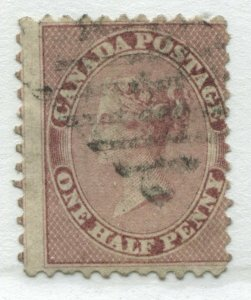 Canada QV 1858 1/2d perforated used