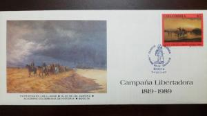 RL) 1989 COLOMBIA, BOLIVAR, SANTANDER, LIBERTADORA CAMPAIGN, 1819-1989, THE PLAI
