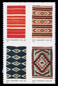 PCBstamps     US #3926/3929a Bk Block $1.48(4x37c)Rio Grande Blankets, MNH, (4)