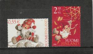 Finland  Scott#  1389-1390  Used  (2011 Christmas)