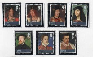 Great Britain Sc 2767-73 2010 House of Stewart stamp set mint NH