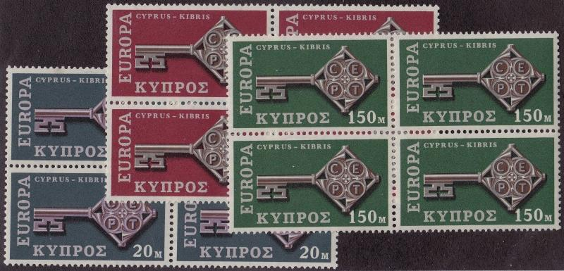 CYPRUS MNH Scott # 314-316 EUROPA Blocks (12 Stamps) -2