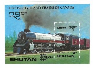 Bhutan 605  SS Mint NH VF 1987 PD