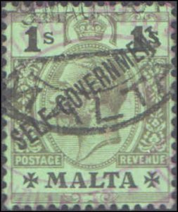 Malta #81, Incomplete Set, 1922, Used