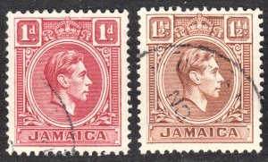 Jamaica Scott 117-18 F to VF used.