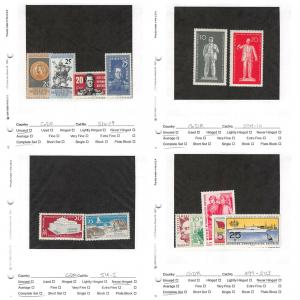 Lot of 48 Germany DDR MNH & MH Stamps Scott Range # 499 - 597 #141350 X R