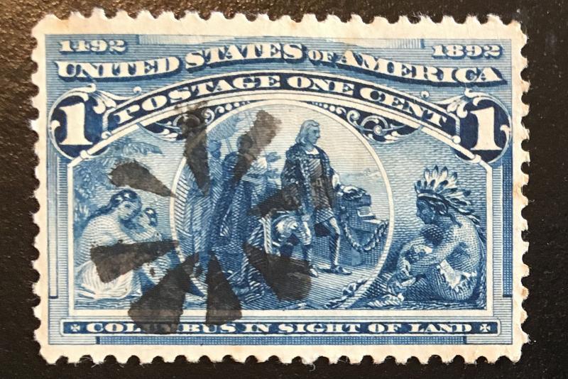 230 Columbus Series, NH, Fancy Cancel, Vic's Stamp Stash