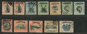 Labuan Sc#72-82 M+U/H/F-VF, Complete Set, Cv. $76.25
