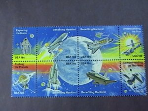 U.S.# 1912-1919(1919a)-MINT/NEVER HINGED--SPACE ACHIEVEMENTS--BLOCK OF 8-1981