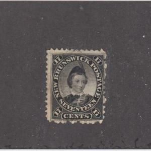 NEW BRUNSWICK (MK937)  # 11 F-USED 17cts PRINCE OF WALES / BLACK CAT VALUE $40