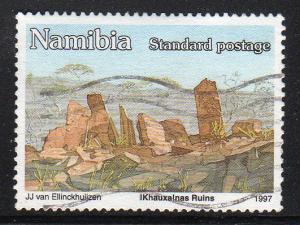 Namibia 816 - Used - Ancient Ruins (cv $0.30)