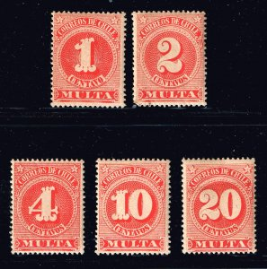 CHILE STAMP POSTAGE DUE MINT STAMPS LOT
