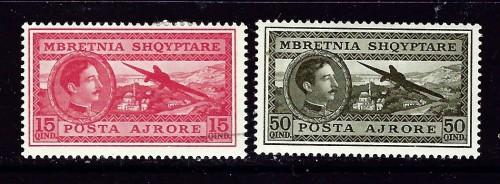 Albania C30 and C32 Hinged 1930 issues