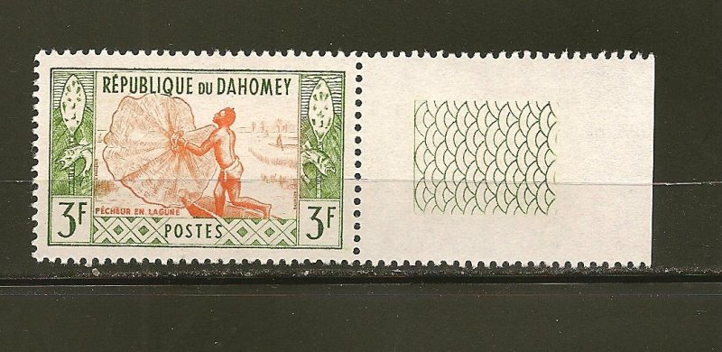 Dahomey 143 Fisherman With Tab MNH
