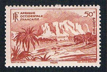French West Africa 39 MLH Oasis of Bilma (BP1007)