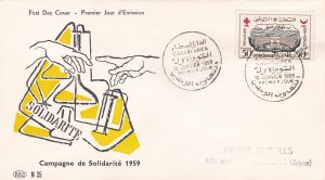 Morocco Northern Zone # 28, Red Cross, Red Crescent, First Day Cover