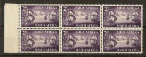 South Africa 1952 Tercent 2d 'Full Moon' Flaw SG138A MNH
