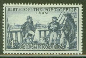 Australia Scott 332 MH* 1959 Postmaster stamp