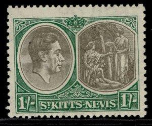 ST KITTS-NEVIS GV SG75, 1s black & green, M MINT.