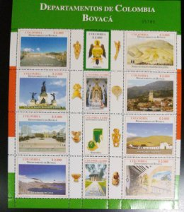 A) 2006, COLOMBIA, BOYACA, TOURISM, PLAZA OF BOLIVAR-TUNJA, SHIELD