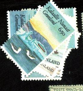 GREENLAND #175A-C, 177 180 183 186 188 MINT VF NH Cat $27