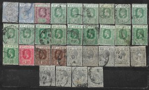 COLLECTION LOT OF 31 SAINT LUCIA 1890+ STAMPS CLEARANCE
