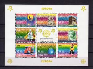 Chad 2005 EUROPA CEPT 50th.Anniv.Chad Sheetlet Perforated  (8) Michel# 2510/17A