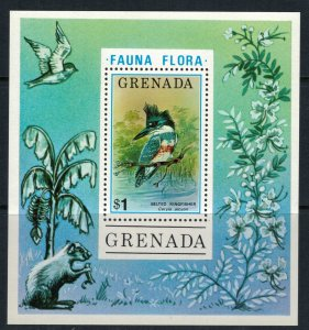 Grenada #699* NH  CV $7.25  Kingfisher Souvenir sheet