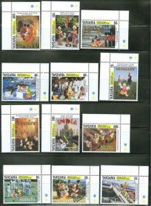 TANZANIA DISNEY MICKEY'S 65th BIRTHDAY TOUR  SCOTT#1113/24   MINT NH