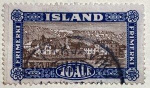 AlexStamps ICELAND #139 VF Used