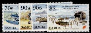 SAMOA QEII SG961-964, 1995 50th anniv of WWII set, NH MINT.